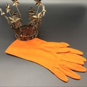 EUC Vintage Pumpkin Gloves (Great w/Turquoise